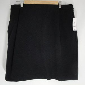 JOE FRESH Skirt Black Straight 12 Front Pockets